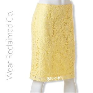 CLEO Lemon Yellow Lace Skirt - Lined